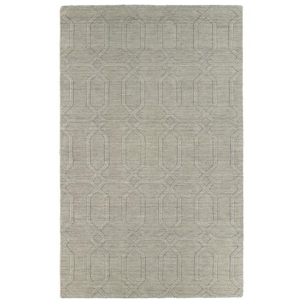 Trends Oatmeal Pop Wool Rug - 5' x 8'