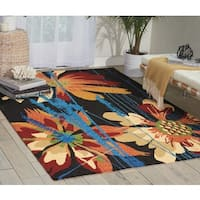 Nourison South Beach Black Rug - 5' x 7'6
