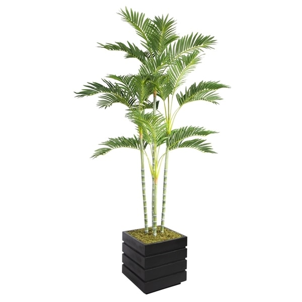 74-inch Tall Palm Tree and 14-inch Fiberstone Planter