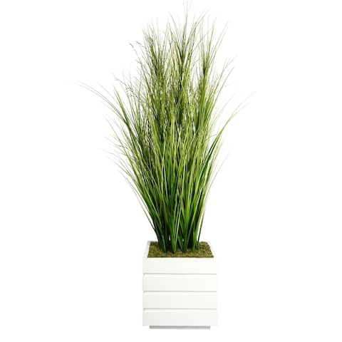 """Vintage Home 66-inch Tall Onion Grass and Twigs in 14-inch Planter - 66"""""""