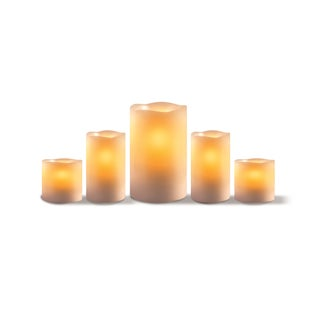 Order Home Collection White Wax 5-piece LED Candle Set