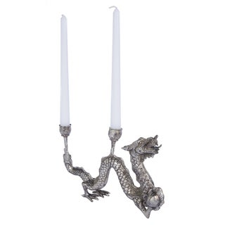 Dragon Silver Candle Holder
