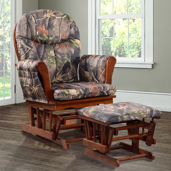 Artiva Usa Home Deluxe Camouflage Fabric Cushion Glider