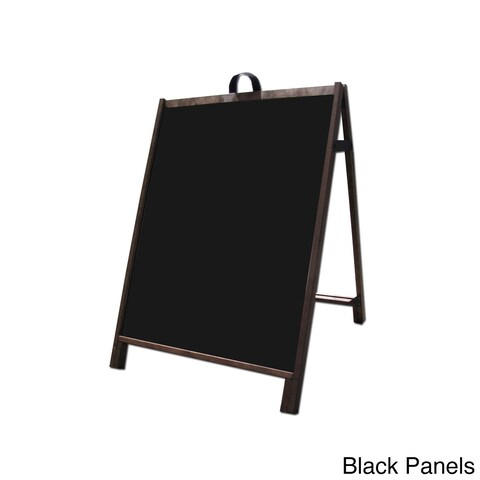 Wood Sidewalk A-Frame Sign with Acrylic Message Panels