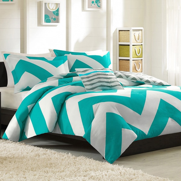 Mi Zone Aries Reversible 4-piece Duvet Cover Set