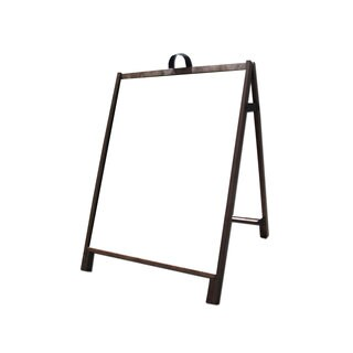 Wood Sidewalk A-Frame Sign with Dry Erase Message Panels