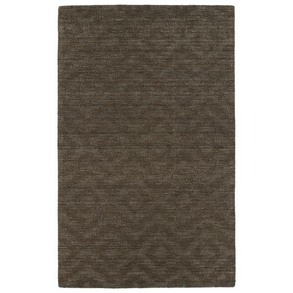 Trends Chocolate Brown Phoenix Wool Rug - 8' x 11'