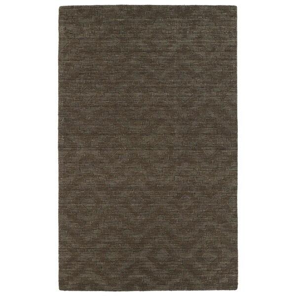 Trends Chocolate Brown Phoenix Wool Rug - 5' x 8'