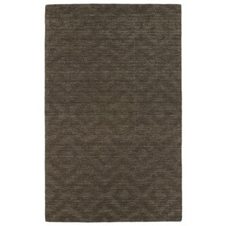Trends Chocolate Brown Phoenix Wool Rug (5'x8')