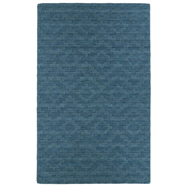 Hand-tufted Trends Turquoise Phoenix Wool Rug - 2' x 3'