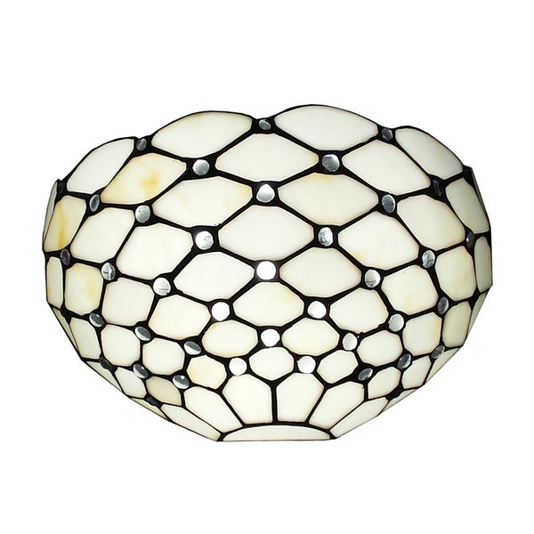 Amora Lighting Tiffany Style White Wall Sconce Lamp - Free Shipping Today - Overstock.com - 15733161