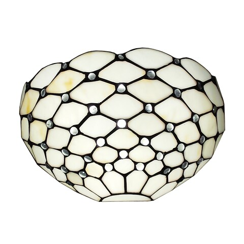 Amora Lighting Tiffany Style White Wall Sconce Lamp