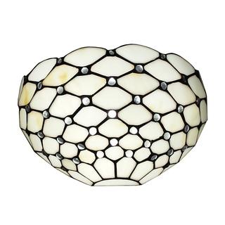 Amora Lighting Tiffany Style White Wall Sconce Lamp