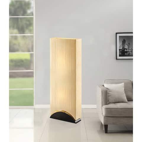 Artiva USA Sakura 42-inch Modern & Contemporary Premium Shade Floor Lamp with Black Lacquer Wood Base