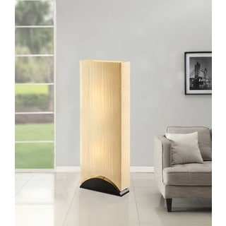 Artiva USA Sakura 42-inch Modern & Contemporary Premium Shade Floor Lamp with Black Lacquer Wood Base