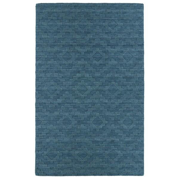 Trends Turquoise Phoenix Wool Rug - 8' x 11'
