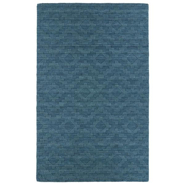 Trends Turquoise Phoenix Wool Rug - 5' x 8'
