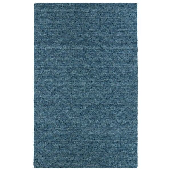 Trends Turquoise Phoenix Wool Rug - 9'6 x 13'6