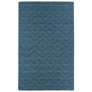 Trends Turquoise Phoenix Wool Rug (9'6x13'6)
