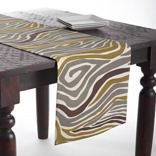 Zebra Linen Blend Design Runner