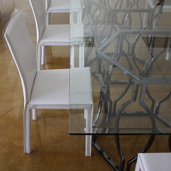 Dawson Metal Frame White Bonded Leather Side Chair