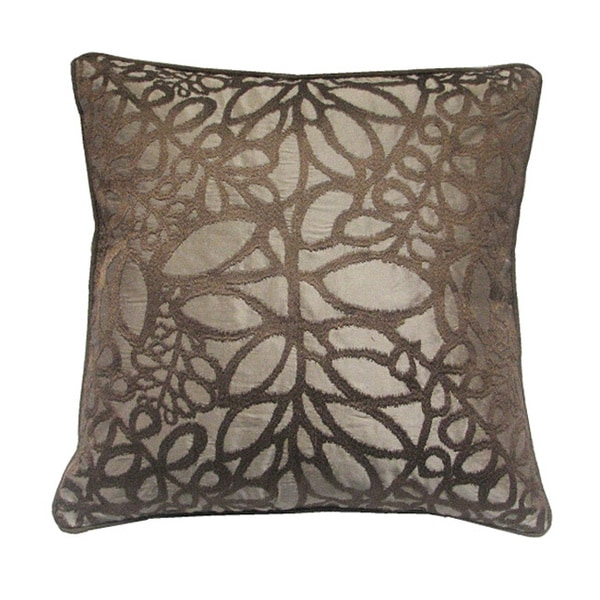 EDIE Taupe 20-inch Decorative Pillow