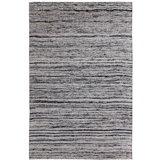 Hand-tufted Loft Multicolored and Silver Variegated Stripe Rug (5' x 8')