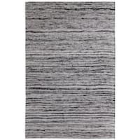 Hand-tufted Loft Multicolored and Silver Variegated Stripe Rug (5' x 8') - 5' x 8'
