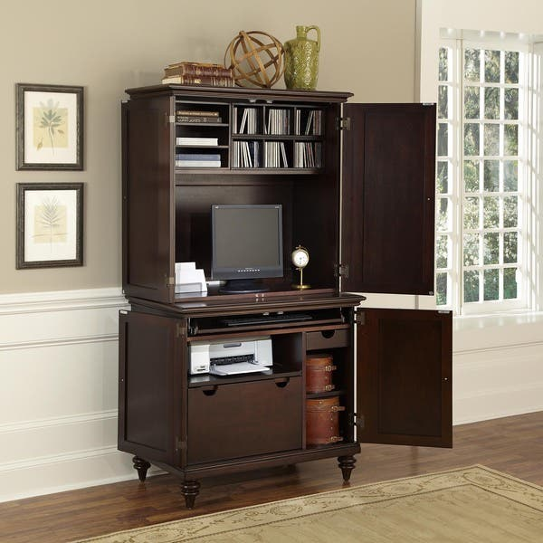 Shop Gracewood Hollow Chetta Compact Computer Cabinet and ...