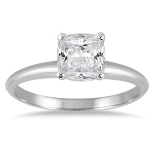Marquee Jewels 14k White Gold 1 ct TDW Diamond Solitaire Engagement Ring
