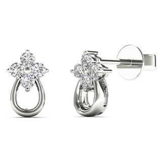 10k White Gold 1/8ct TDW Tiny Diamond Stud Earrings (H-I, I1)