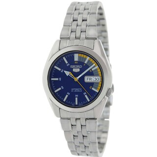 Seiko Men's Automatic Silver Stainless Steel Blue-dial Watch