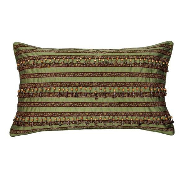 "Green Decorative Pillow (12"" x 20"")"