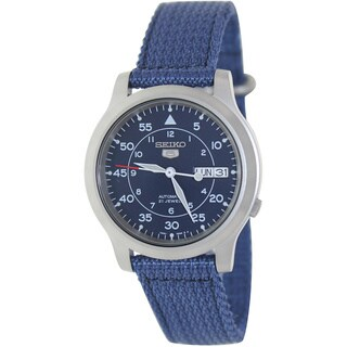 Seiko Men's Blue Automatic Fabric Watch
