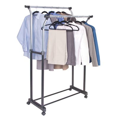 Richards Homewares Chrome Flared Double Garment Rack