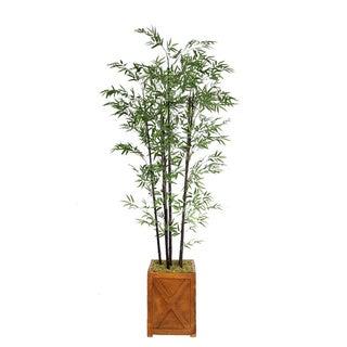 Laura Ashley 81-inch Black Bamboo Tree in 13-inch Fiberstone Planter