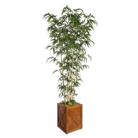 Vintage Home 81-inch Tall Natural Bamboo Tree in 13-inch Planter - 81""