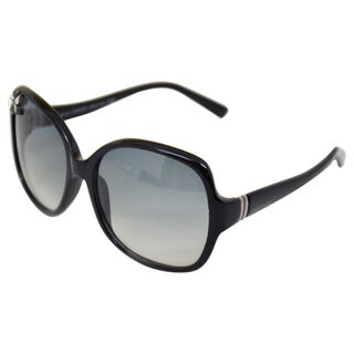 Austrian Crystal Unisex 'SK0011' Black Oversize Fashion Sunglasses