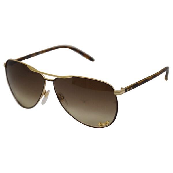 Gucci Women's '4209/S' Dark Brown Aviator Sunglasses