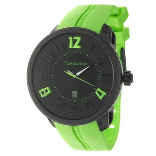 Tendence Men's 'Gulliver Round Funky' Polycarbonate and Steel Watch