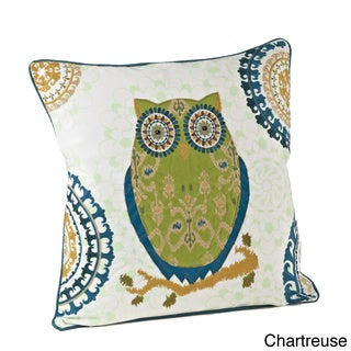 18-inch Owl Design Throw Pillow (Option: Green)