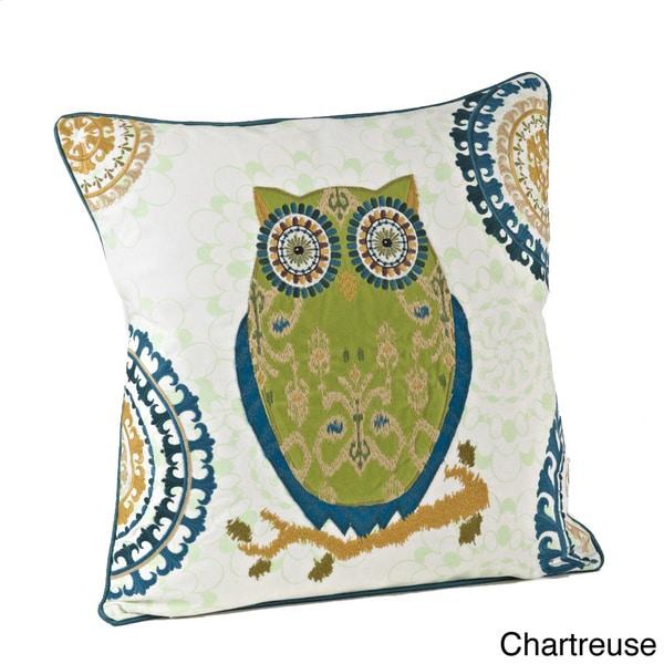 18-inch Owl Design Throw Pillow