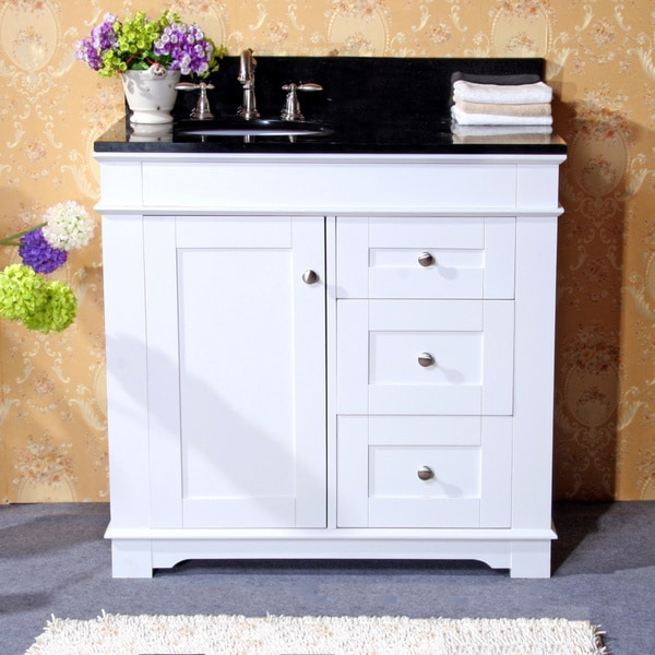 36 Inch White Bathroom Vanity With Granite Top Rukinet Com - 36 White Vanity  With Black - 36 Bathroom Vanity With Granite Top Land Design Reference