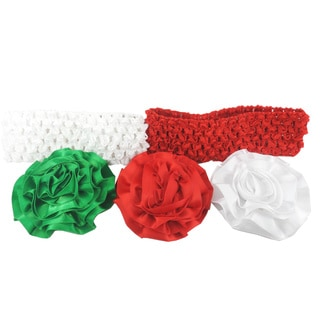 Holiday Flowers and Headbands Set Set of 5