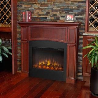 Real Flame Dark Mahogany Bradford Electric Fireplace