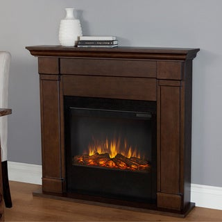 Real Flame Vintage Black Maple Lowry Electric Fireplace