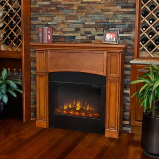 Real Flame Bradford Slim Line Pecan Electric 46-inch Fireplace