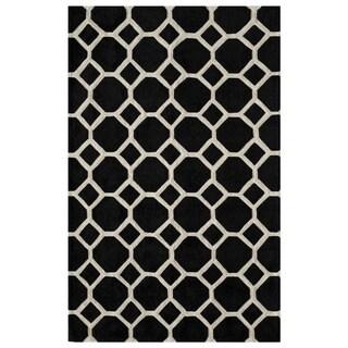 Honeycomb Black Hand-Tufted Rug (8' x 10')