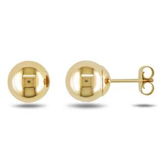 Miadora 10k Yellow Gold Ball Stud Earrings