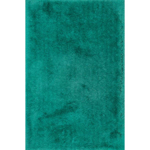 Hand-tufted Evelyn Emerald Shag Rug - 5' x 7'6